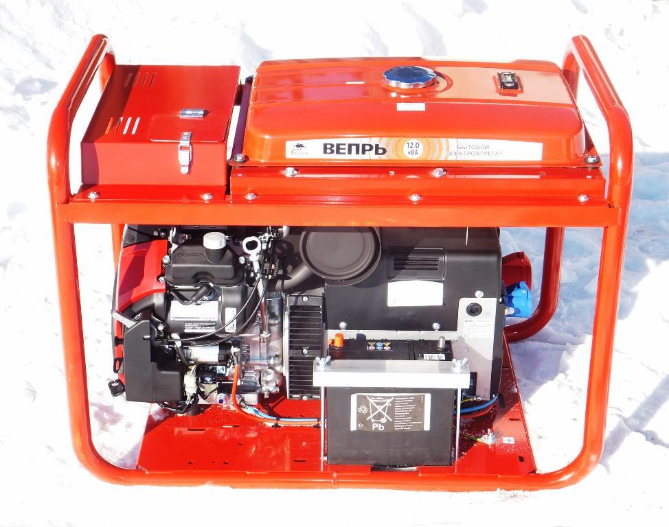 Бензиновый генератор 10 кВт 380 Вольт Вепрь АБП 10 230 ВХ-БСГ9